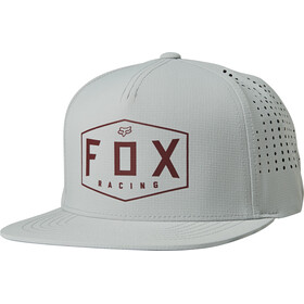 Fox Crest Snapback Cap Heren, grey/red